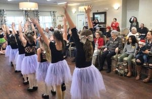 Dancers with Ms. Tera's Tap 'N Toes performed at Argent Court in December. JAYCI KENNEDY | PLEASANTON EXPRESS