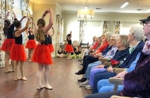 This was the 10th year Ms. Tera's Tap 'N Toes dancers have performed at Argent Court.