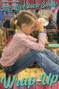 Ryan Brymer prays before showing at the 2019 ACLS Show. JESSI BRYMER | PLEASANTON EXPRESS
