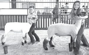 Junior Lamb Showmanship winners were Cheyanne Pullin, 2nd place and Zaelyn Burnside, 1st place. COURTESY PHOTO