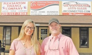 Pictured are JM Connected, Pleasanton Finance Company and Atascosa Insurance Agency business partners Meloni Stendebach and John Mayse. Please see their ad on 5A. LEON ZABAVA | PLEASANTON EXPRESS