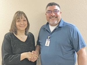 Poteet City Administrator Eric Jiminez welcomes new Municipal Court Associate Judge, Elsie Guerra. Guerra was appointed during the City Council meeting on January 7. She brings 14 plus years' experience as municipal judge to her new position and was chosen out of three applicants. DIANA GUTHRIE | PLEASANTON EXPRESS