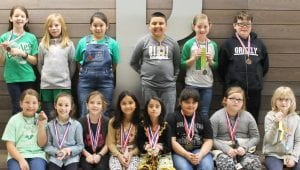 Pictured are Pleasanton Elementary UIL winners and participants in third grade.