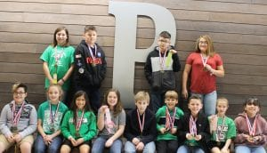 Pictured are Pleasanton Elementary UIL winners and participants in fifth grade.