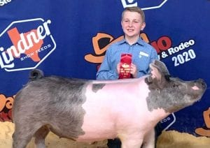 Dylan Olle took 2nd place in the Class 8 Cross at the San Antonio Gilt Show. COURTESY PHOTO