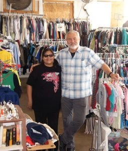 CAM Executive Director Dan Minnich is pictured with Sonya Reyna at CAM, located at 500 Ave. H in Poteet. Hours of operation are Monday-Friday, 9 a.m. to 12 noon. LISA LUNA | PLEASANTON EXPRESS