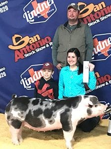 Pictured left to right, front to back: Gunner Smith, Julia Smith, and Cliffton Smith. COURTESY PHOTO