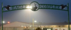 The lights shine over the Pleasanton softball field at the Eagle Sports Complex as part of the #BeTheLight movement. On Friday, April 17, the UIL announced the cancellation of all remaining spring sports. SAM FOWLER | PLEASANTON EXPRESS
