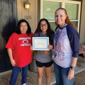 JHS student Abigail Valdez was accepted into the Health Professions Academy which will allow her to take the prerequisite courses required for nursing school. These two girls are the only two Jourdanton students accepted from applicants from over 25 school districts in the San Antonio area. Their acceptance is equivalent to a $12,500 scholarship. They will attend college classes at St. Philip's and San Antonio College in the mornings and their high school courses back on campus in the afternoons. Both girls will earn at least 30 college credit hours during the two-year programs.