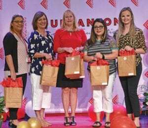 Jourdanton kindergarten teachers who received a grant are, left to right: Cindy Ramos, Anna Garcia, Coree Field, Diana Calvillo and Lindy Vickers. Not pictured is Lisa Nixon.