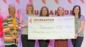 Pictured from left are third grade teacher grant recipients at Jourdanton Elementary: Holley Bailey, Paula Palk, Marla Rankin, Heather Halfmann and Allison Swientek. Not pictured is Maggie Isaac. They received a grant from the Jourdanton Education Foundation.