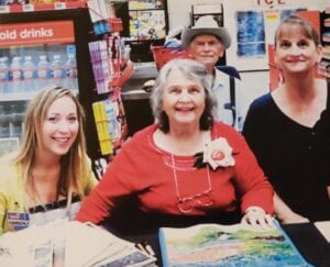 Thelma Cardwell-Cale's artwork was featured on a line of shopping tote bags and decor at H-E-B.