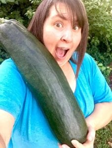 Leah Robertson of Jourdanton, seems to have forgotten to pick her zucchini for a couple of days. COURTESY PHOTO