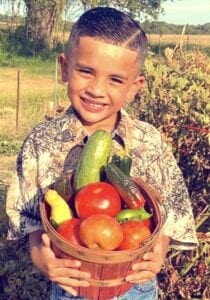 Xzavier Hernandez, is the son of Adriana Flores and Michael Hernandez. Xzavier, is 5 years old and attends Poteet Elementary. He loves the outdoors and enjoyed planting, watering and helping with his Pops garden this year. They are from Rossville. COURTESY PHOTO