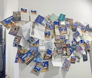 """The Urban Bricks' """"Wall of Pride"""" that showcases pictures, thank you letters and cards from their customers. COURTESY PHOTO"""