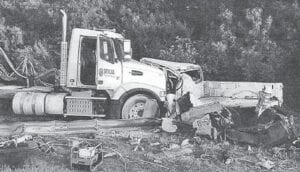 At first glance, officials who arrived on the scene didn't notice two vehicles were involved with the accident on Aug. 6, 2018. The damage to Bob Roby's pickup was so extensive, officials had to pull apart the two vehicles to retrieve Roby from the wreckage. TEXAS DPS | COURTESY PHOTO