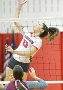 Jourdanton's Sidney Morneau tries to finish off an attack against Dilley in 2019. SAM FOWLER | PLEASANTON EXPRESS