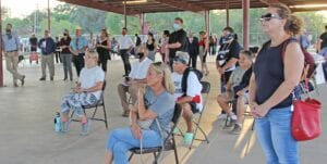 Atascosa County residents flooded the pavilion at the Pleasanton River Park on Oct. 22 to hear from their 2020 candidates. Individuals also had the opportunity to speak with candidates one on one and ask them questions about their campaigns. So far, 11.7K voters in the county have shown up to the polls. The last day for Early Voting is this Friday, Oct. 30 and Election Day is Tuesday, Nov. 3. REBECCA PESQUEDA | PLEASANTON EXPRESS