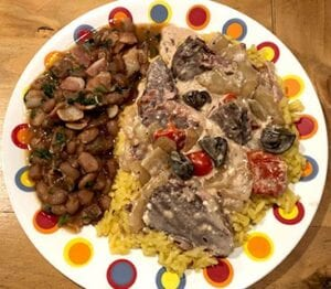 Dinner is ready. We like to eat it served over a bed of yellow rice. LONI JUST | PLEASANTON EXPRESS