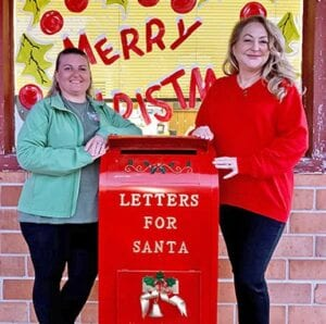 """Ag Editor/Classifieds Manager Loni Just and Publisher/Managing Editor Noel Willkerson Holmes invite you drop off your """"Letters for Santa"""" at the Pleasanton Express! SAM FOWLER 