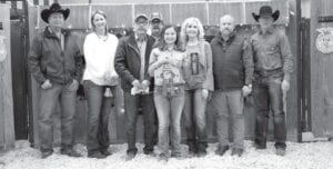 Leming/Verdi 4-Her, Presley Brown, raised $2,300 for her Grand Champion Broilers at the live auction held Saturday, Jan. 16. Buyers were, pictured, from left, are: Randy and Sherry Gaydos, Gaydos Construction; Bob Price and Harry Garza, Price Chevrolet Pleasanton and Price Chrysler Floresville; Presley Brown, Res. GC Broilers; Aubrey Smith, Pleasanton H-E-B; Chris Morlock, Pursch Motors; and David Dove, Mac Haik Southway Ford. The auction was live through Monday, Jan. 18. MEMORIES ON MAIN