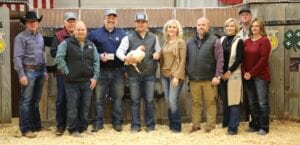 The Grand Champion Broilers raised $4,800 for Kasen Boyd with Lytle 4-H at the live auction. Pictured, from left, are buyers: David Dove, Mac Haik Southway Ford; Robert Lee Wagner, NFA Wealth Management; Joey Van Hecke, Atascosa Farm Bureau; Reagan Lee Wagner, NFA Wealth Management; Kasen Boyd holding his GC Broilers; Aubrey Smith, Pleasanton H-E-B; Chris Morlock, Pursch Motors; Nan Boyd, mom; and Scott Dean and Macie Decker, Lasso. MEMORIES ON MAIN
