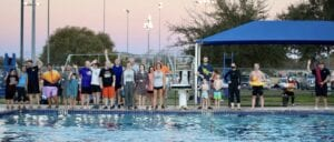 Along with accepting the Polar Plunge Challenge, the community also enjoyed s'mores and hot cocoa.