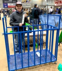 Tristan Barker, Pleasanton FFA, won third place for his pig scale at the San Angelo Ag Mechanics Show & Rodeo on Feb. 6. This scale was also a firstplace winner at the ACLS. Be on the lookout for a feature story on Barker in a future edition. COURTESY PHOTO