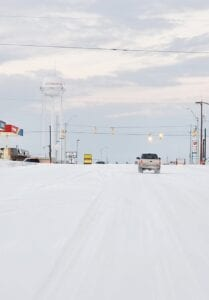 Snow-covered streets on Hwy 97 in Jourdanton Monday morning made it hard for most to travel, but the sight was oh so mesmerizing! JPD SGT. MARI KAUFMAN   COURTESY PHOTO