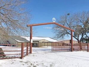 """Cowboy Fellowship off FM 3350 in Jourdanton remains closed, but this place of worship seemed """"heaven-sent"""" after the Sunday night/Monday morning snowfall. JACK GARCIA   PLEASANTON EXPRESS"""