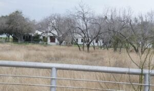From the once proposed site of the EAF Dust Recycling Plant, one can see the adjacent Whitsett Baptist Church. LISA LUNA | PLEASANTON EXPRESS