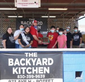 "The Backyard, 973 Ave. H, is becoming one of Poteet's most favorite eating spots. Their give back to the community is second to none for local businesses. During the winter storm, the Backyard Kitchen fed countless number of hungry individuals for free. They serve up hot street food and cold street ""treats."" The lines for The Backyard Kitchen stretched almost 50 feet at the festival."