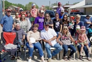 The Rogers family of Poteet have sat in this same spot for the PSF parade for 50 plus years. Roy Rogers, who has passed, was PSF King in 1957. He was the 10th king. NOEL WILKERSON HOLMES | PLEASANTON EXPRESS PHOTOS