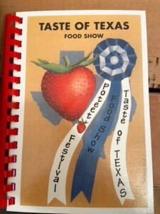 The cover of the 2020 Taste of Texas Food Show cookbook. The 2021 cookbook will be available at the Poteet Strawberry Festival office for $20. Proceeds from cookbook sales fund scholarships for Poteet ISD graduates. For three recipes featured in this year's cookbook, see page 10B. DEBBIE WARD | PSFA