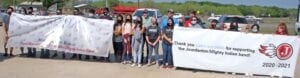 Members of the Jourdanton High School Band stopped by Alpha Machine and Repair in Jourdanton earlier this month to thank them for their support throughout the year. LISA LUNA | PLEASANTON EXPRESS PHOTOS