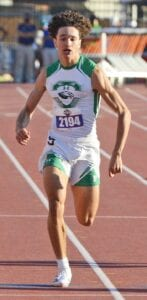 Jayden Palacios sprints to the finish line during the Class 4A 400-meter dash at the state meet in Austin on Thursday, May 6. SAM FOWLER | PLEASANTON EXPRESS