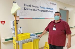 Luis Gomez says going from construction outside to becoming a housekeeper at Methodist Hospital | South was God's calling.