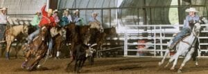 Joseph Brown Jr. on horse, Spook, at a 2020 Youth Rodeo Association event in Gonzales. COURTESY PHOTO