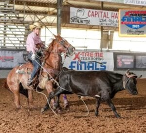 Joseph Brown Jr. at the 2020 Xtreme Team Roping Finals in Stephenville. COURTESY PHOTO