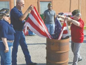 """""""We are grateful that we were able to provide this necessary service for our community,"""" said Patti Hewitt on the Flag Retirement Ceremony held on June 12."""