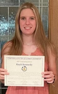 Kayli Kennedy, Pleasanton FFA, is one of five 2021 high school graduates in the state to receive a $1,000 Texas FFA Foundation award this year. STACEY KENNEDY   COURTESY PHOTO