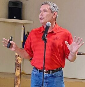 Michael Berlanga, CPA, walked Atascosa County taxpayers through the property tax protesting process during a free seminar on June 24. DIANA GUTHRIE | PLEASANTON EXPRESS