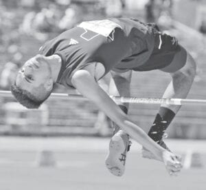 Poteet's Noah Gonzales clears the bar at the 2021 Class 3A state track meet in Austin. Gonzales' PR of 6-6 landed him a fourth place finish and a spot on Texas A&M-Corpus Christi's track team as a walk-on. PLEASANTON EXPRESS FILE PHOTO