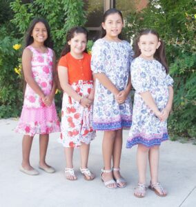 """St. Andrew Catholic Church will host its Diez y Seis Celebration on Sept. 18. Raising funds for the church and competing for the Die y Seis Queen title are, from left: Zanella Herrera, Andrea Jae """"Jae Bird"""" Gutierrez, Kinzie Rakowitz and Kyndall Rakowitz. LISA LUNA   PLEASANTON EXPRESS"""