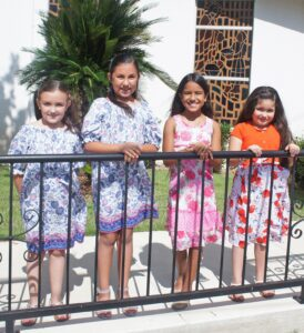 """See who will be crowned the St. Andrew Diez y Seis Queen at this Saturday's celebration in Pleasanton. Candidates pictured, from left are: Kyndall Rakowitz, Kinzie Rakowitz, Zanella Herrera and Andrea Jae """"Jae Bird"""" Gutierrez. LISA LUNA   PLEASANTON EXPRESS"""