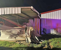 A man crashed into the Leming VFD on Saturday, Sept. 11. All Leming VFD members are OK, but the man is in critical condition. LEMING VFD | COURTESY PHOTO