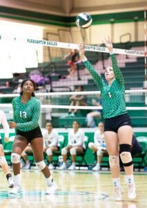 Tess Underbrink made the 1,500th assist of her Lady Eagle career during the win over Carrizo Springs on Friday night. J GARCIA   PLEASANTON EXPRESS