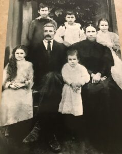 Wiliiam Barton Fuller and Rebecca Fuller and their children, circa 1895. They are the first generation to own family land now farmed by the Royal family in Verdi. BETTY RACKLEY | COURTESY PHOTO