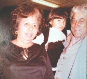 Pleasanton Express Lifestyles Editor Lisa Luna, center, is shown in the late 1970s with her grandparents, Josefina and Tomas Santillan of Poteet.